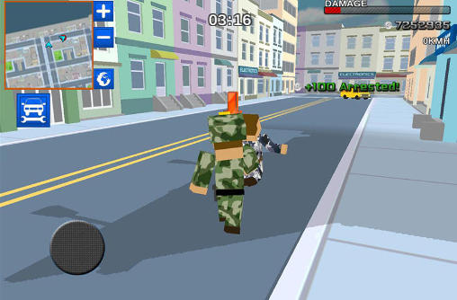 Blocky army: City rush racer