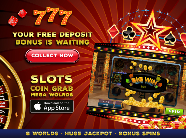 Скачать Slots: Coin Grab Mega Worlds на iPhone iOS 8.0 бесплатно.