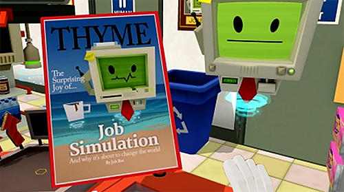 Скачайте игру Job simulator для iPad.