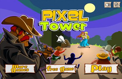 Cowboy Pixel Tower – Knock Them Off And Crush The Structure!