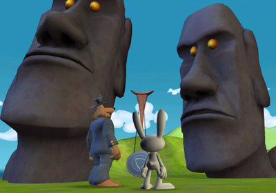Sam & Max Beyond Time and Space Episode 2.  Moai Better Blues