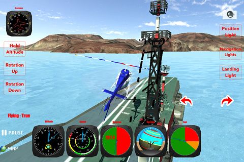 Helicopter: Flight simulator 3D