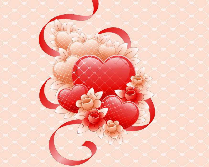 Любовные фоны для открыток