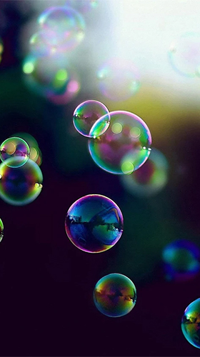 Скриншот экрана Bubbles by Happy live wallpapers на телефоне и планшете.