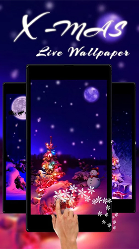 Скриншот экрана Christmas tree by Live Wallpaper Workshop на телефоне и планшете.