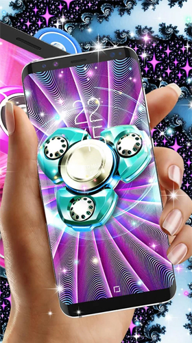 Скриншот экрана Fidget spinner by High quality live wallpapers на телефоне и планшете.